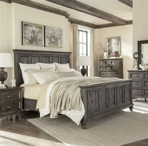 farmhouse bedroom set farmhouse style bedroom with rustic ceiling fans
