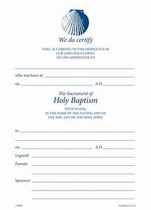 Churchpublishing Org  Baptismal Certificate