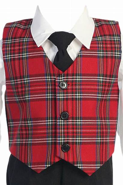 Plaid Boys Vest Pants Holiday Dresswear Outfit