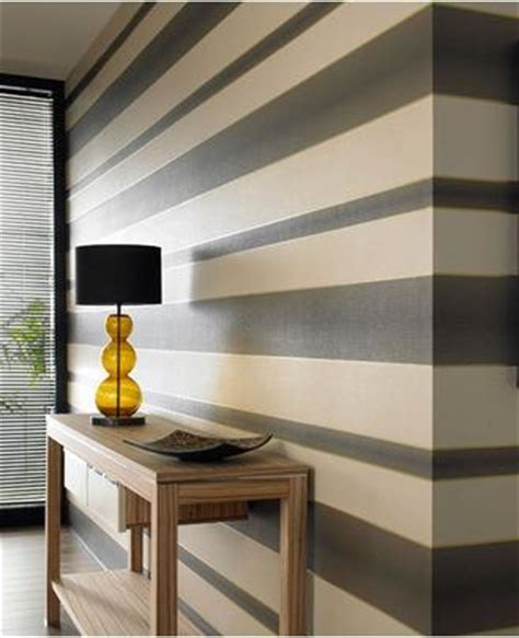 chocolate cream gold stripe wallpaper graham brown