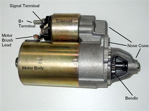 ford starter motor wiring circuit connection diagram