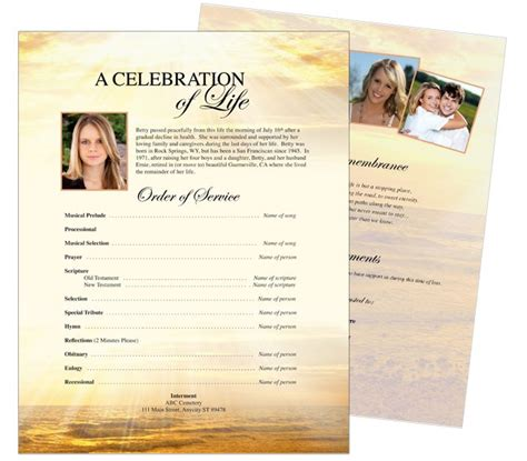 one page flyer template 10 best funeral memorial stationary flyer sheets templates
