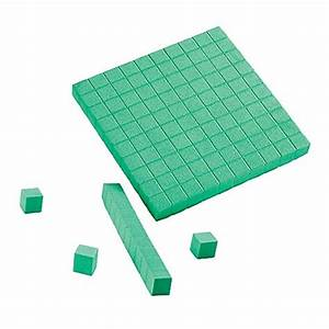 Hand2mind Green  Foam  Base Ten Blocks For Place Value