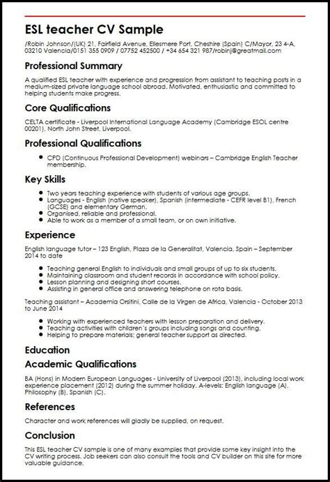 Esl Teaching Resume by Esl Curriculum Vitae Editor Services For