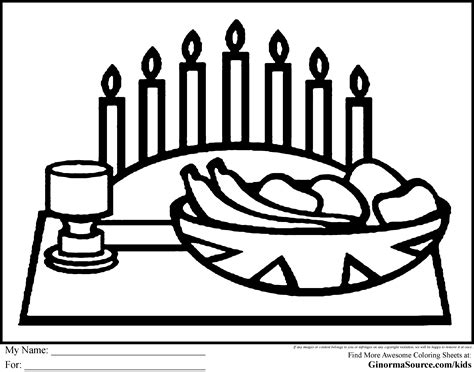 kwanzaa candles coloring pages   print
