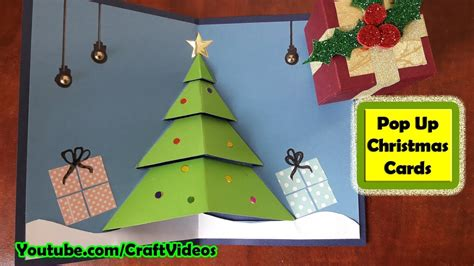 Pop Up Christmas Card Making Tutorial, Diy, Handmade
