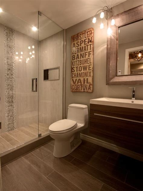 Faux Wood ceramic tiles for your bathroom! Continue the