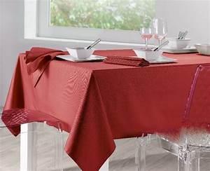 Nappe Ovale Grande Taille : nappe unie soft rouge 170x320 linge de maison ~ Teatrodelosmanantiales.com Idées de Décoration