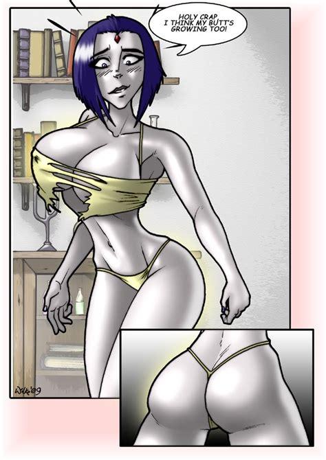 raven starfire breast expansion hentai