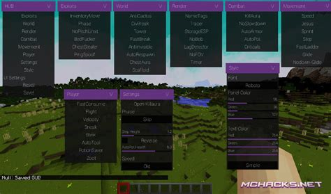 null hacked client woptifine   minecraft
