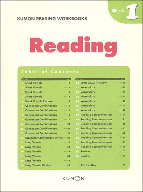 Kumon Reading Workbook  Grade 1 (053217) Details  Rainbow Resource Center, Inc