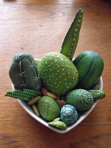 painted rock cactus pattern for home decor ~ arts and