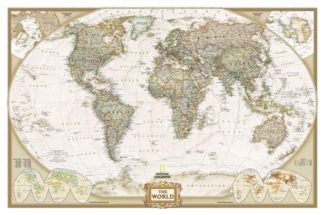 Old World Map 100% Cotton Canvas, 25cm X 30cm / 10