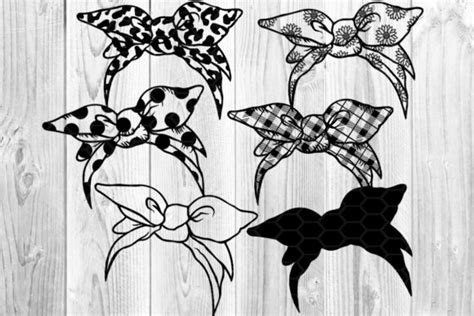 Maybe you would like to learn more about one of these? Messy Bun Bandana Mom Life SVG Clip Art (Graphic) by V ...