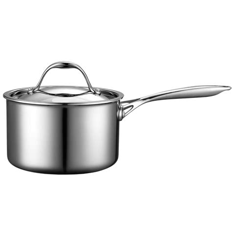 top quality multi ply clad stainless steel covered sauce pan