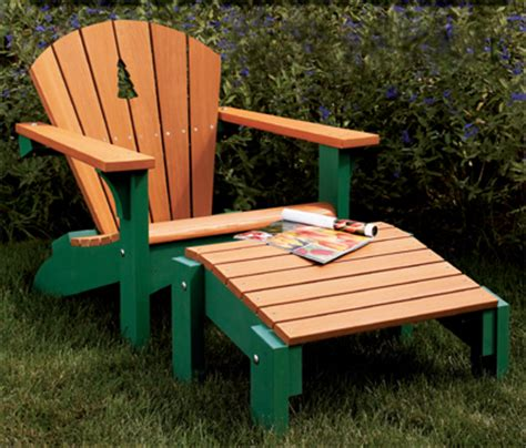 Woodworkers Journal Adirondack Chair Plans by Adirondack Chair Footstool Woodworking Plan From Wood