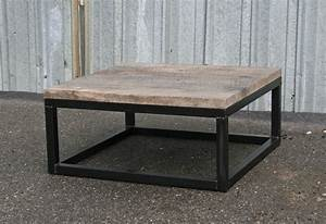 Combine 9 Industrial Furniture – Reclaimed Wood Coffee Table