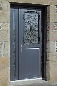 Nos portes d39entree pvc for Porte d entrée pvc en utilisant porte fenetre pvc gris anthracite