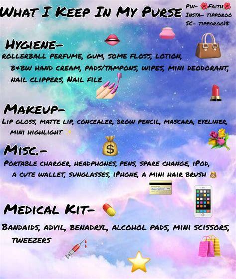 purse essentials ideas  pinterest wallets