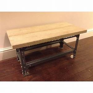 dexion slotted angle coffee table steelwork only With angled coffee table