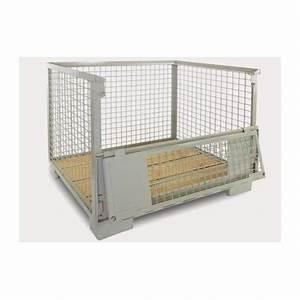 Caisse Palette Métallique : caisse palette europool gitterbox 1500kg caisse ~ Edinachiropracticcenter.com Idées de Décoration