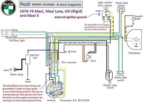 puch moped wiring diagram puch wiring diagram 1978 79 6