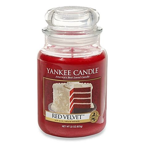 yankee candle red velvet scented candles bed bath