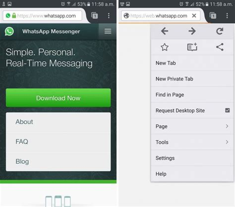 Whatsapp Mobile Site How To Use Whatsapp On Both Smartphone And Android