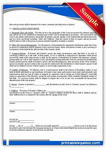free printable living trust form generic With free will and trust documents