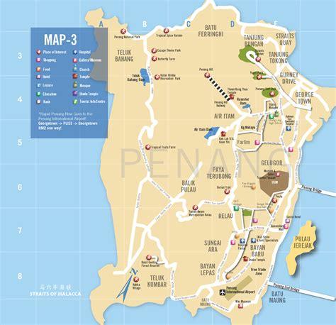 penang  map  latest penang map  tourists