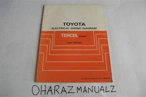 1987 Toyota Tercel Sedan Electrical Wiring Diagram Manual