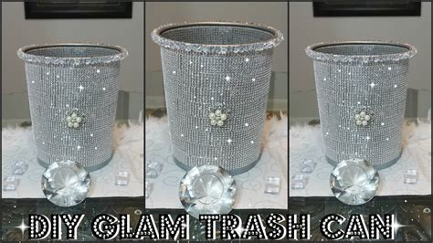 diy dollar store bling trash  diy quick  easy room