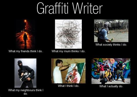 Graffiti Meme - what my friends think i do graffiti writer what my friends think i do what i really do meme