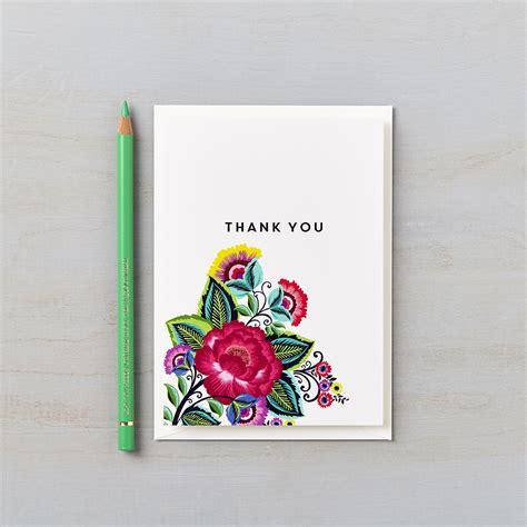 floral folk   card lucy