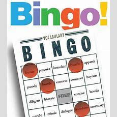 Bingo Vocabulary Game, Grades 112 Students Write Their Vocabulary Words On Bingo Card