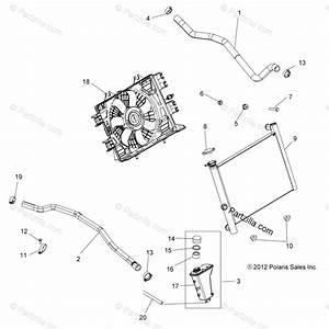 Polaris Atv 2015 Oem Parts Diagram For Engine  Cooling