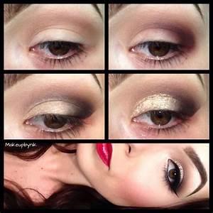 Gold glitter tutorial using TNT cosmetics crystallized ...