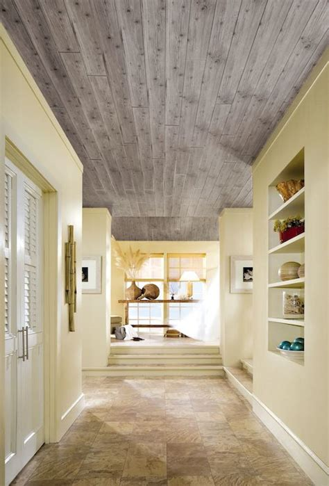 armstrong woodhaven whitewashed ceiling planks giving your ceiling a makeover with armstrong ceilings
