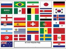 World Cup Flag Set 32 Flags