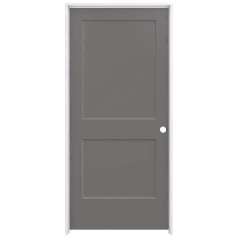 home depot jeld wen interior doors jeld wen 36 in x 80 in smooth 2 panel weathered
