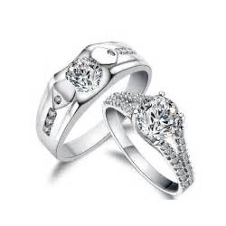 his and wedding ring sets 3 carats his and matching antique style cz wedding ring set for couples jewelocean