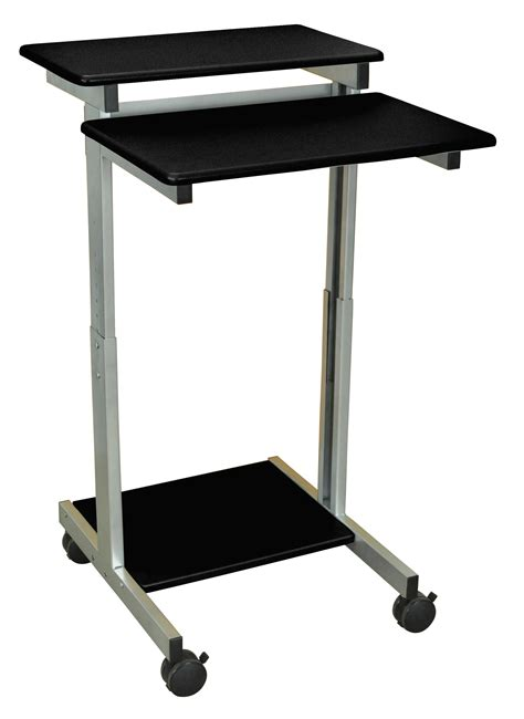 luxor stand up desk luxor standup 24 b adjustable height stand up workstation