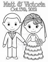 Groom Bride Coloring Pages Wedding Printable Activity Personalized Colouring Etsy Sheets Popular Favor Childrens Pdf Party Library Clipart Getdrawings  sketch template