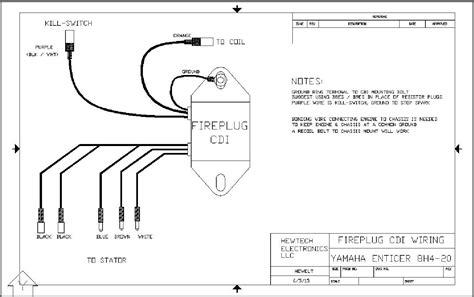 fireplug cdi for yamaha enticer bravo 250 300 340 to 1984 81 ss440 cdibox