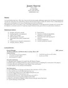 general resume format general manager resume template premium resume sles exle