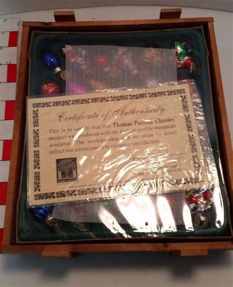 thomas pacconi classics christmas ornaments sealed wood