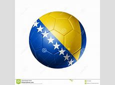 Soccer Football Ball With Bosnia And Herzegovina F Royalty
