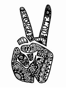 """Hand Drawn Peace Out Sign"" by alexavec 