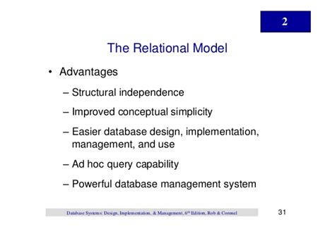 database systems design implementation and management database design implementation and management chapter02