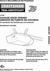 41a4315 7d Craftsman Garage Door Opener Manual Pdf